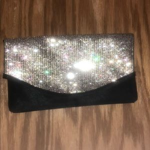 Black & gold sparkle clutch ✨